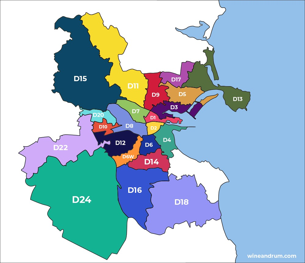 Dublin Districts Map